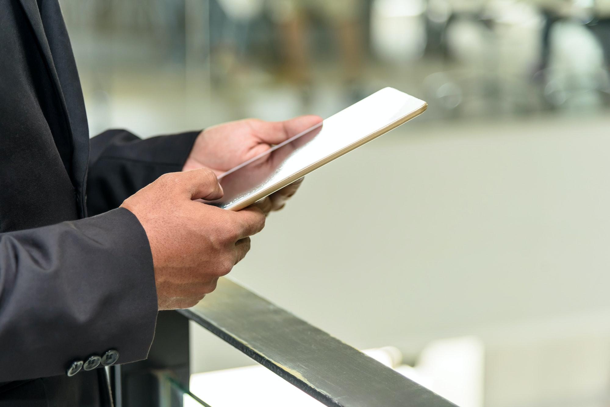 Professional businessman use digital tablet